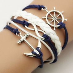 Women Men Infinity Love Anchor Cute Charm Bracelet Diy Hot