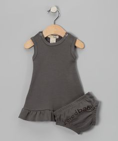 Gray Mod Dress & Diaper Cover - @Ainsley Dayan, baby girl needs this!