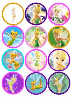 Edible Cupcake Toppers - Tinkerbell Toppers! PRECUT! | eBay