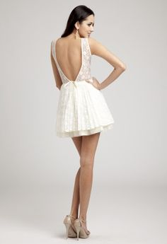 Prom Dresses 2013 - Short Lace Illusion Dress from Camille La Vie and Group USA