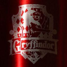 Harry Potter Gryffindor House Crest 8 oz Flask via Etsy