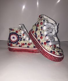 Custom bling converse all star chuck taylor sneakers embellished with high  quality rhinestones and pearls 11a008574