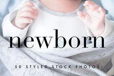 Newborn Baby Styled Stock Photos by studiomonstera on @creativemarket