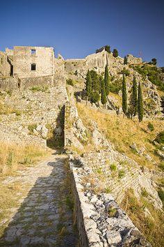 The ancient Venetian fortifications of Kotor, Kotor, Montenegro (UNESCO World Heritage Site)