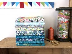 Liberty Fabrics - Turquoise Bundle- Fat Quarter - The Strawberry Thief