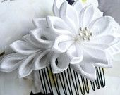 Until -- Fabric Flower Hair Comb