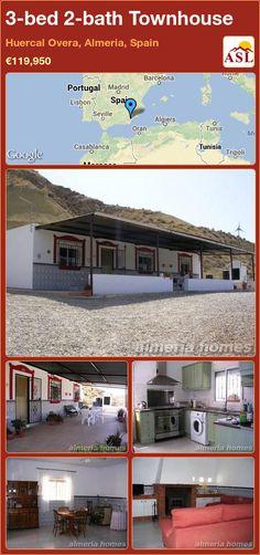 3-bed 2-bath Townhouse in Huercal Overa, Almeria, Spain ►€119,950 #PropertyForSaleInSpain