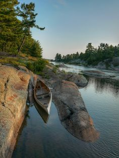 Landed for the night time French River Trip Report: Classic Voyageur Channel Fox Lake Loop Canoe Camping, Canoe Trip, Canoe And Kayak, Camping Hammock, Fox Lake, Hiking Trails, Hiking Gear, Rafting, The Great Outdoors