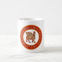 Assyrian Golden Alphabet and Lamassu mug