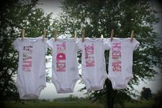 Personalized Baby Girl Onesies by thekraftytwins on Etsy, $12.00