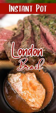 Beef Recipe Instant Pot, Instant Pot Dinner Recipes, Best Pressure Cooker Recipes, Instant Pot Pressure Cooker, Vegan Recipes Easy, Beef Recipes, Cooking Recipes, London Broil Pressure Cooker