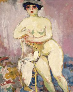 PROPERTY FROM A PRIVATE EUROPEAN COLLECTION Kees van Dongen NU À LA CHAISE  500,000 — 700,000 GBP 992,550 - 1,389,570USD LOT SOLD. 804,000 GBP (1,596,020 USD) (Hammer Price with Buyer's Premium) DETAILS & CATALOGUING  Kees van Dongen 1877 - 1968 NU À LA CHAISE signed Van Dongen (lower left); signed Van Dongen on the reverse oil on canvas 65 by 54cm. 25 5/8 by 21 1/4 in. Painted circa 1905.