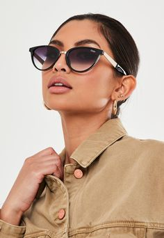 Quay Australia After Hours Navy Sunglasses Sunglasses Storage, Top Sunglasses, How To Fold Underwear, Quay Glasses, Glasses For Your Face Shape, Quay Australia Sunglasses, Sunglasses Women Designer, Missguided, Lens