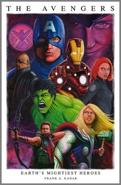 The Avengers Earth's Mightiest Heroes fan art print by FrankAKadar, $20.00