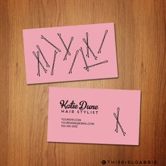 Bobby Pins Hair Stylist Business Cards  Sets of by ThisGirlGabbie, $20.00