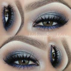 Midnight sparkle look @ makeupby_mars