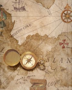 Brown Pirate Treasure Map Wallpaper - Wall Sticker Outlet