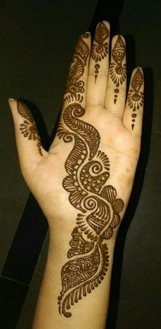Henna Tattoo Designs Simple, Full Hand Mehndi Designs, Henna Art Designs, Mehndi Designs For Girls, Mehndi Designs For Beginners, Mehndi Design Photos, Mehndi Designs For Fingers, Beautiful Mehndi Design, Latest Mehndi Designs