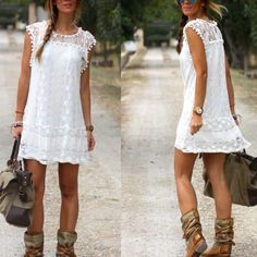 Sleeveless lace dress Shift dress, semisheer, need a slip. Size M. Nwot. Length: 36 inches , bust and waist: 37-39 inches Dresses Midi