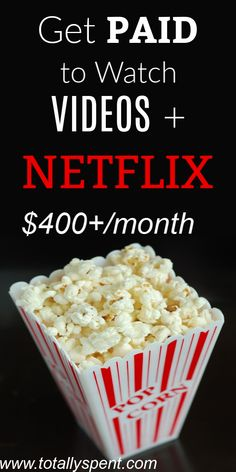 How to Make Money From Home watching videos online and even get PAID to watch Netflix! Work F… How to Make Money From Home watching videos online and even get PAID to watch Netflix! Earn Money From Home, Make Money Fast, Way To Make Money, How To Make, Making Money From Home, Ways To Earn Money, Online Work From Home, Work From Home Jobs, Online Jobs For Moms