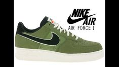9bdacb599ad90 NIKE Air Force 1 07 LV8 718152308 Black Palm Green