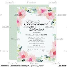 Rehearsal Dinner Invitations | Daisy Watercolor