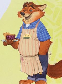 Gideon Grey the now kind and gentle fox as a baker and a former bully of Judy Hopps and Judy's good friend