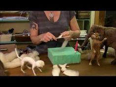 HOW TO NEEDLE FELT Episode 3 How To Needle Felt - Begin Sculpting