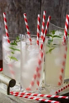 such a small thing as a striped straw adds such a festive touch