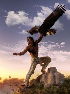 Warrior and Eagle by deskridge.deviantart.com on @DeviantArt
