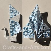 Peacock Origami place holders