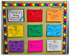 Beyond ROY G. BIV: Room Tour #2: Learning Targets
