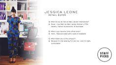 Staff Picks - Jessica Leone, Retail Buyer