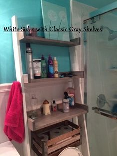 Over the Toilet Ladder Shelf image 6 Over The Toilet Ladder, Over Toilet Storage, Bathroom Shelves, Small Bathroom, Bathroom Ideas, Bathroom Storage, Bathrooms, Ladder Shelf Diy, Tiny Powder Rooms