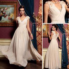 Dorisqueen v cou, beige, couleur de mode robe de soirée 30781