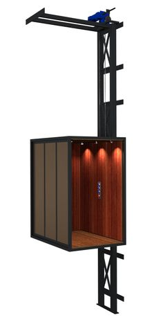 Residential Elevators, Home, Calgary, Edmonton - Uppercut Elevator Attic Lift, House Lift, Gazebo On Deck, Elevator Design, Lift Design, Home Design Living Room, Casas Containers, Tower House, Modern Stairs