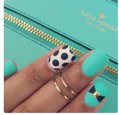 Kate Spade ♠︎ inspired nails I must try this