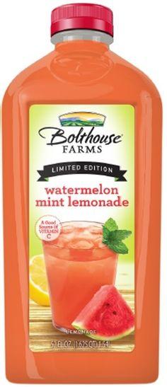 Watermelon Mint Lemonade from @Bolthouse Farms = summer in a bottle ...