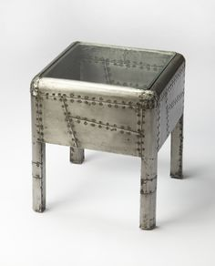 Industrial Chic Yeager Aviator End Table