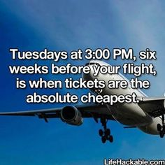 when to book your flight to get the cheapest airfare!