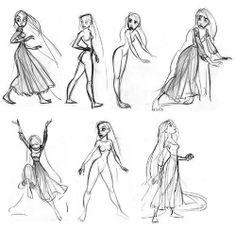 makeawishitsadream: Glen Keane's Babies- Rapunzel Ariel,...