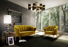The MAYA armchair and MAYA sofa with the sensual and delicate feminine make the perfect set in every living room.