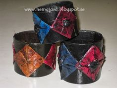Hemgjord: Newspaper and/or thin cardboard bracelet