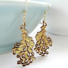 Blossom Earrings Medium Yellow, $64, now featured on Fab.