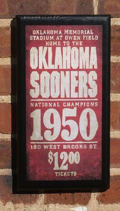 OU Vintage Wall plaque  $28 gift idea