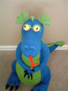 Your place to buy and sell all things handmade Cute Stuffed Animals, Dinosaur Stuffed Animal, Stuffed Dragon, Dragon Pattern, Green Dragon, Make Your Own, Blue Green, Plush, Knitting