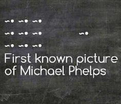 First known picture of Michael Phelps :)