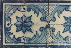 Panel of pombaline tiles at the National Tile Museum - Painel de azulejos pombalinos do Museu Nacional do Azulejo