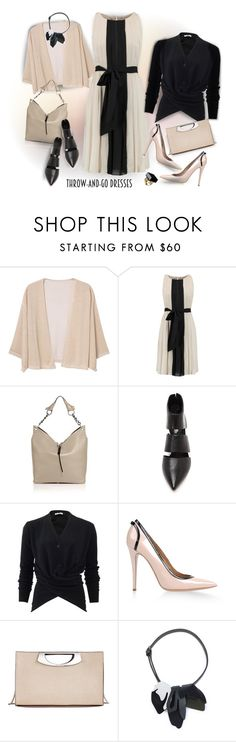 """""""Easy Peasy: Throw-and-Go Dresses"""" by ysmn-pan ❤ liked on Polyvore featuring MANGO, L'Agence, Jimmy Choo, belle by Sigerson Morrison, Tomas Maier, Dsquared2, Calvin Klein, Marni, contest and dresses"""