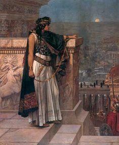 Queen Zenobia's Last Look upon Palmyra, Herbert G. Schmalz